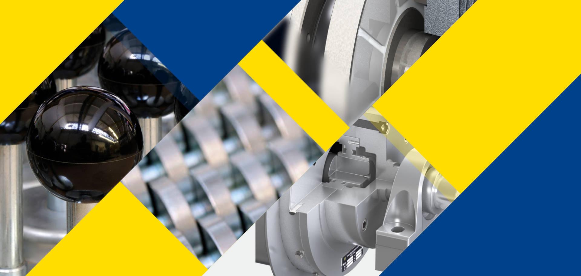 Collage zeigt Produkte der Tridelta-Magnetsysteme
